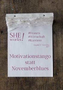 Titelblatt She works Magazin November 2017
