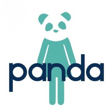 Frauenpiktogramm mit Pandakopf und Schriftzug PANDA - Logo von PANDA Karriere-Contest für weibliche Führungstalente