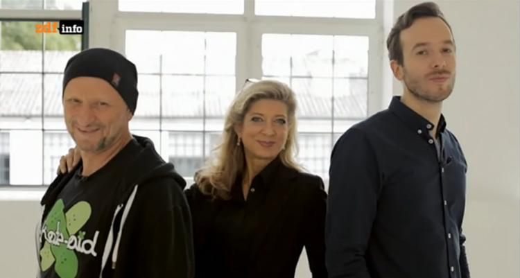 Titus Dittmann, Sandra Fisher, Philipp Westermeyer, Jury beim Kampf der Start-ups auf ZDFinfo