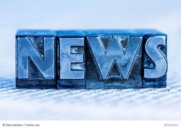 Das Wort News wurde mit Bleibuchstaben
