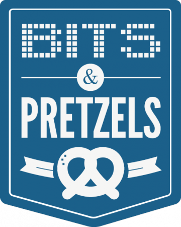 Logo Bits & Pretzels blau