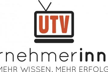 Logo Unternehmerinnen-TV UTV im stilistischen Bildschirm