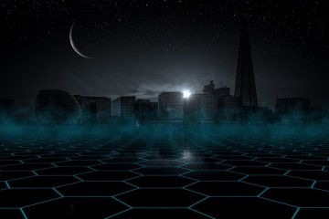 Skyline by night - crowdfunding night