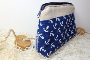 Seemannsfaden Tasche Blau mit Ankern 02