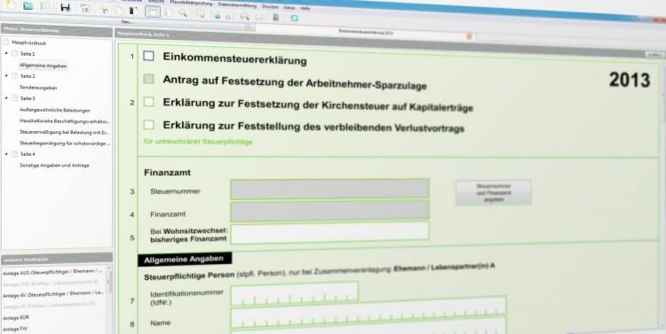 Bildschirmscreenshot Einkommensteuerformular / simon_pixabay.de