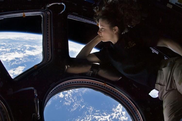 Astronautin auf der ISS