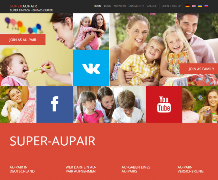 Super Aupair Homepage