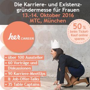 HerCAREER 2016 im Oktober in München