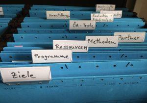 etikettierte Hängeregister