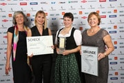Bild: Ursula Schlaghecken, Corinna Washtell, Preisträgerin Katharina Mayer und Rita Lanius-Heck. Foto: dlz agrarmagazin Dagmar Deutsch