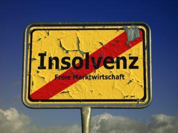Straßenschild - Insolvenz- Freie Marktwirtschaft