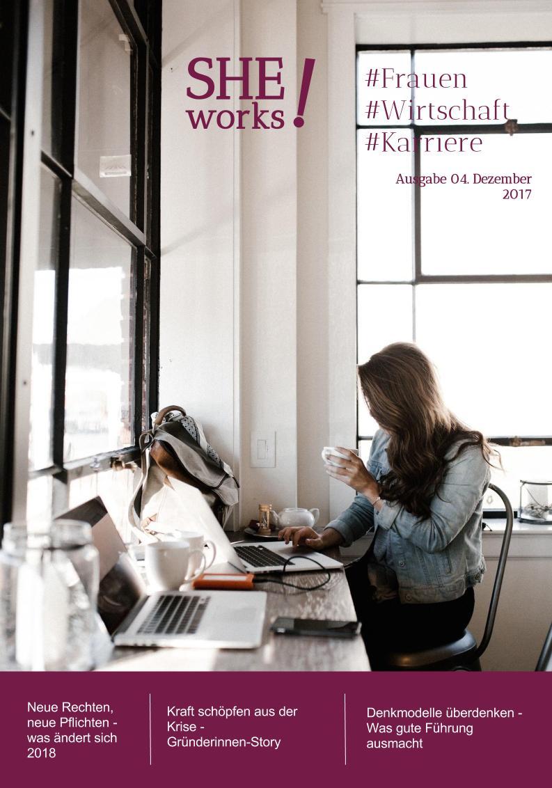 SHE works! Magazin Titelblatt Neues Jahr-neue Regeln