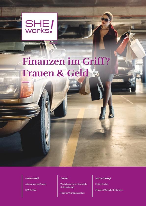 SHE works! Magazin Titelblatt Finanzen im Griff