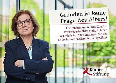 Zugabe-Preis der Körber Stiftung für soziale Gründer/innen 60plus